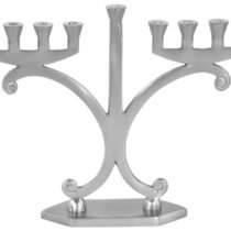"Menorah Aluminium with Pewter Finish - 8.5""H #MN11663"