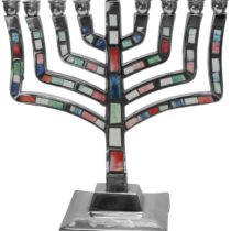 "Menorah Pewter Multi Color - 9""H - #MN545"