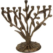 "Candle Menorah - Silver - 10""H - #MN765"