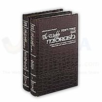 The Weekly Midrash - Tzenah Urenah 2 Volume Set - Maroon Leather