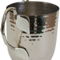 Holister Wash Cup Hammered Stainless Steel